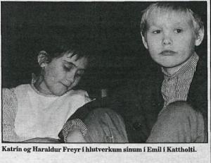 Harldur F. Gíslason og Katrín Sif Sigurgeirsdóttir í hlutverkum Emils og Ídu.