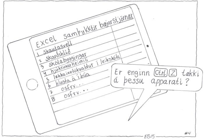 Mynd vikunnar á Bænum okkar Teiknari: Einar Bjarnason