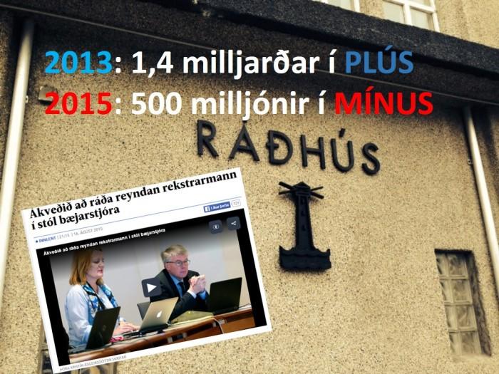 Hafnarfjarðarbær skilaði 1,4 milljarða króna afgangi árið 2013 en umtalsverður halli var á rekstrinum á síðasta ári. Bæjarstjóri segir ytri aðstæðum um að kenna.